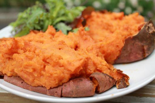 Thai'ce Baked Sweet Potatoes