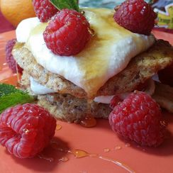Orange-Oat Pancakes with Creamy Filling