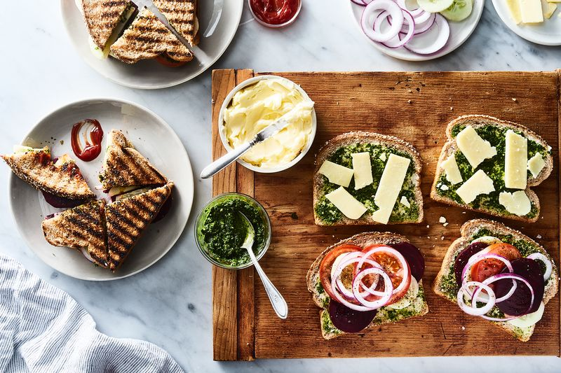 Cilantro chutney peps up any sandwich perfectly—especially this Mumbai vegetable sandwich (recipe below!).