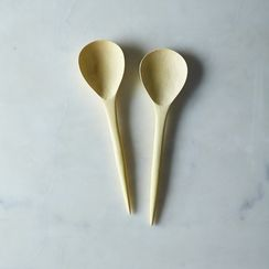 Hand Carved Lemonwood Spoons (Set of 2)