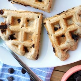 Crispy Chocolate Chip Cookie Whole-Wheat Waffles