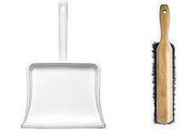 Enamelware Dust Pan & Hand Broom