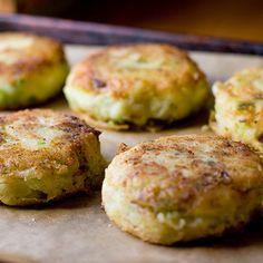 Asparagus Onion Cakes