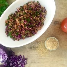 Eej: Spicy Red Cabbage & Bulgur Salad