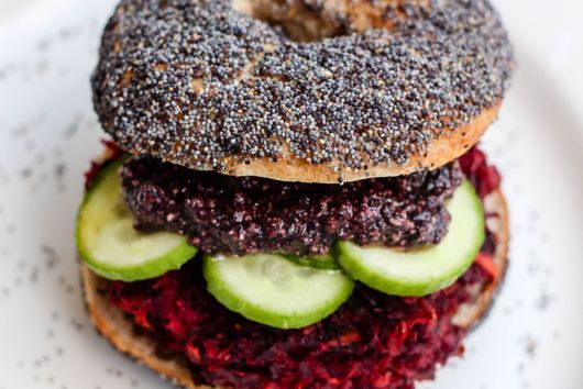 Beet Patty Sandwich