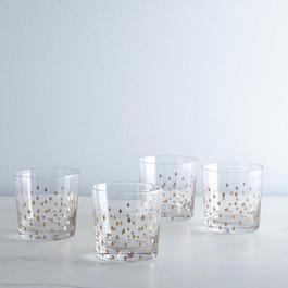 Retro Diamond Double Tumblers (Set of 4)