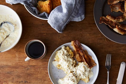 Grace Cowan's Biscuits and Egg Gravy with Fresh Side
