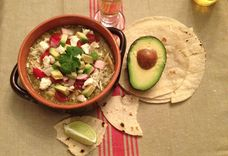Posole Verde with Roasted Chicken