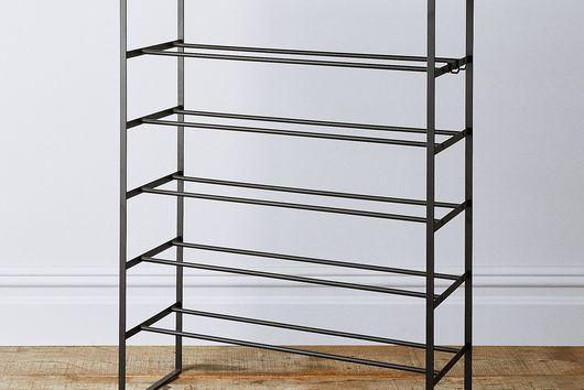 Wood & Steel 6-Tier Shoe Rack
