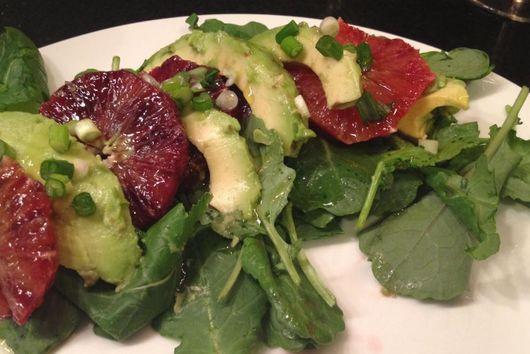 Blood Orange, Avocado, and Baby Kale Salad