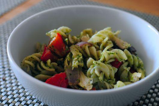 Cilantro-Mint Pesto Pasta