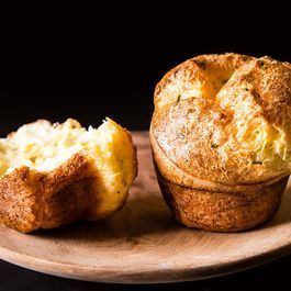 Black Pepper Popovers with Chives and Parmesan