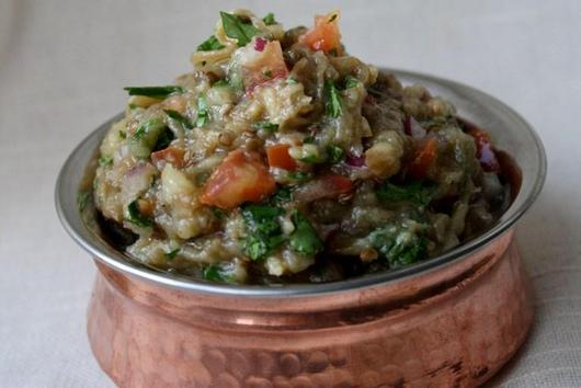 Indian Inspired Eggplant & Tomato Dip