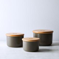Emile Henry Oven-Safe Ceramic Canisters