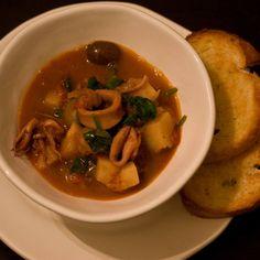 Squid, Potato and Olive Stew