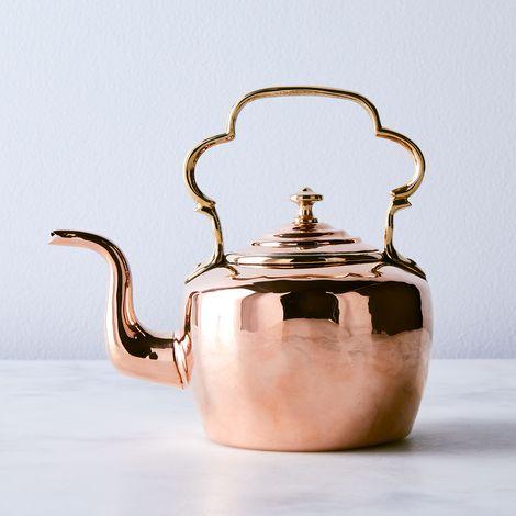 Vintage Copper English Salesman Sample Tea Kettle, Mid 19th Century