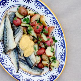 Roasted Mackerel with Aioli and Parsleyed Potatoes