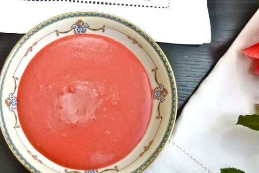 Strawberry Coconut Soup for a Summer Brunch