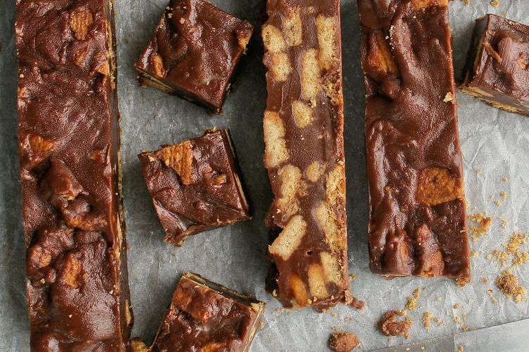 Double Chocolate Peanut Butter Fridge Cake