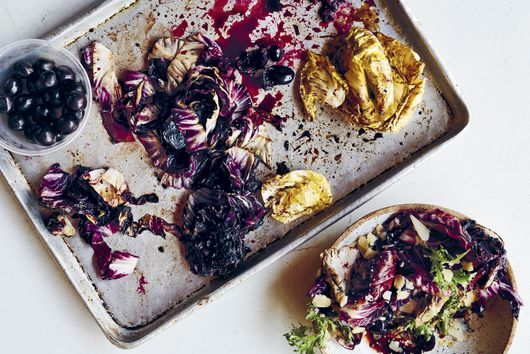 Paul Kahan's Charred Radicchio With Arugula, Cherries & Parmigiano