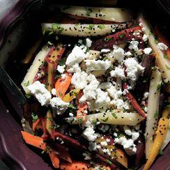 Carrot Salad with Feta + Nigella Seeds