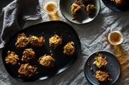 Collard Greens and Cheddar Cheese Pakoras