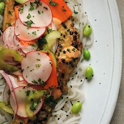 Vietnamese-Inspired Sweet & Spicy Catfish with Pickled Vegetables