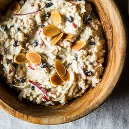 Fresh Muesli with Apples, Currants, and Toasted Almonds