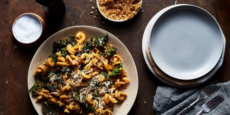 Greens + meat + pasta is a winning template, and this recipe proves it.
