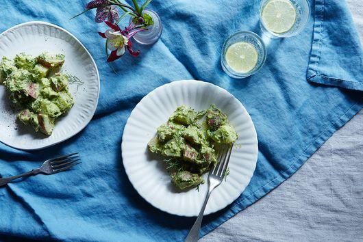 A Potato Salad True to Its Roots—But Green!