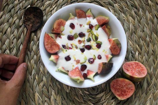 Yogurt syllabub with honey