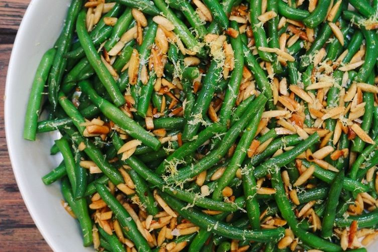 Green Beans with Butter Fried Almonds