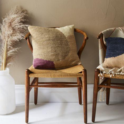 Color Block Knit Pillow