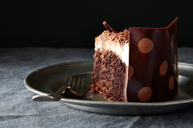Chocolate-Wrapped Chocolate Cake