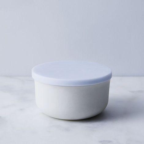 Corian & Stoneware Butter Keeper