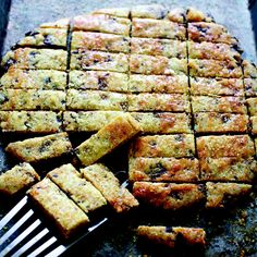 Olive Oil Shortbread with Rosemary & Chocolate Chunks