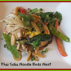 Thai Panang Soba Noodle Birds Nest