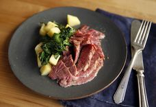 Pressure Cooker Corned Beef Brisket with Charred Cabbage and Dill Vinaigrette