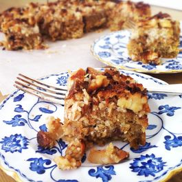 Ugly Duckling Carrot and Oatmeal Cake topped with Coconut Caramel
