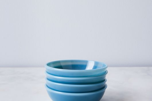 Tinted Glass Nesting Shallow Bowls