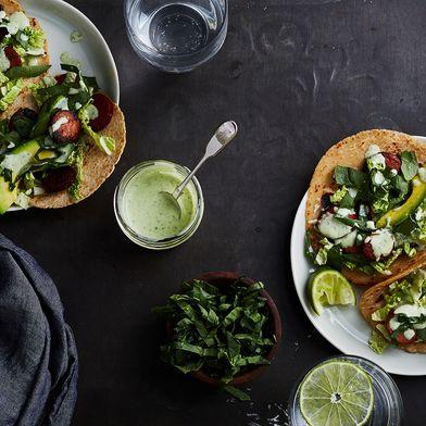 Chorizo Tacos with Slaw and Avocado