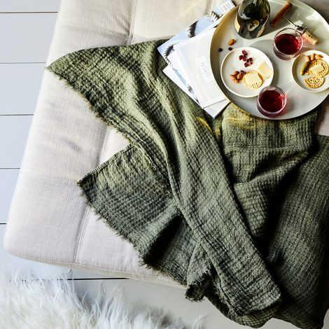 Simple Linen Throw