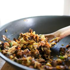 Veggie Hash with Chorizo and Capers