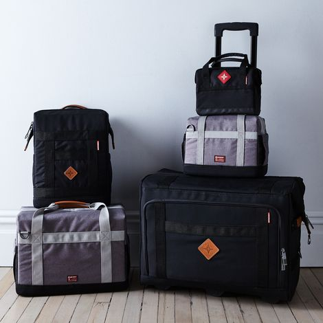 Structured Nylon & Leather Travel Coolers