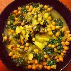 Healthy Garbanzo & Spinach Soup