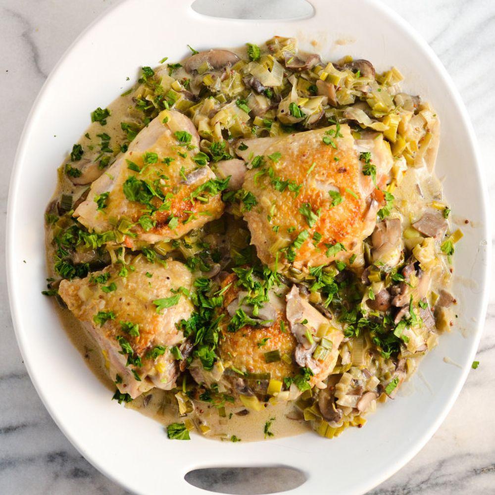Creamy Chicken With Mushrooms & Leeks Recipe On Food52