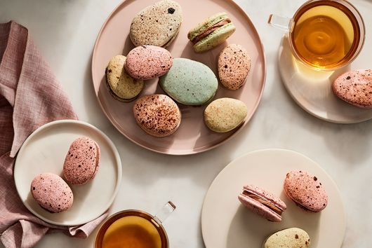 Easter Egg Macarons With Malted Chocolate & Caramel Filling
