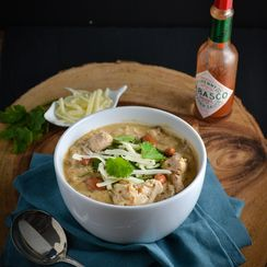 White Chicken Chili With Pinto Beans And Poblanos