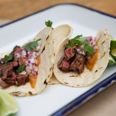 Skirt Steak Asada Tacos