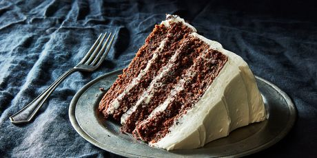 A superlative devil's food cake from the Barefoot Contessa
